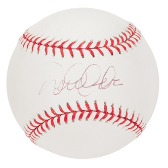Derek Jeter Autographed New York Yankees Official Major League Baseball (Steiner)