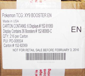 Pokemon XY BREAKpoint Booster 6-Box Case