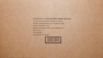 2015 Pokemon Collector Chest Tin Case (9 Ct.)