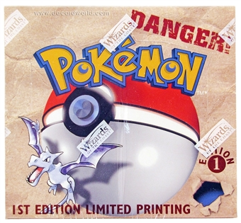 Pokemon Fossil 1st Edition Booster Box