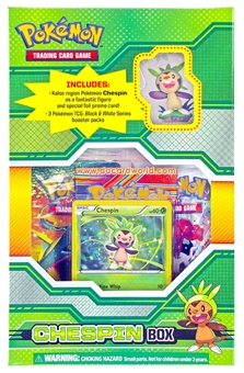 Pokemon Black & White Figure Box - Chespin
