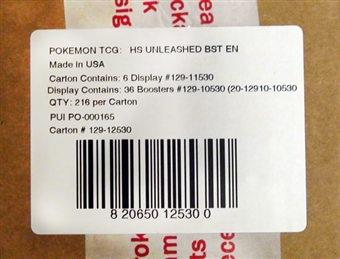 Pokemon HeartGold & SoulSilver Unleashed Booster 6-Box Case