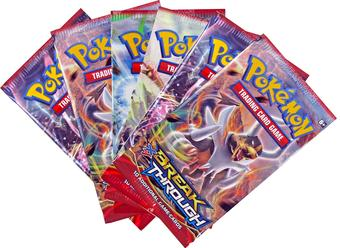 Pokemon XY BREAKthrough Booster Pack (Lot of 6)