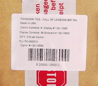 Pokemon Call of Legends Booster 6-Box Case