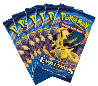 Pokemon XY Evolutions Booster Pack (Lot of 6)