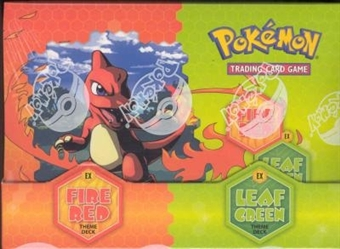 Pokemon EX Fire Red Leaf Green Precon Theme Deck Box