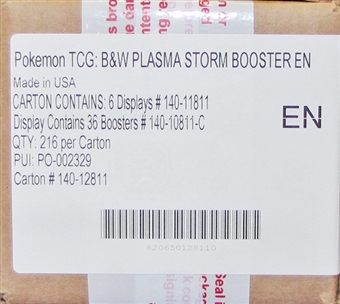 Pokemon Black & White 8: Plasma Storm Booster 6-Box Case