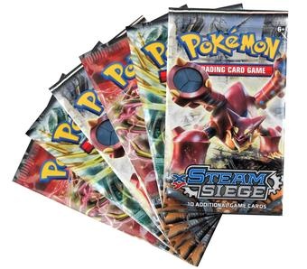 Pokemon XY Steam Siege Booster Pack (Lot of 6)