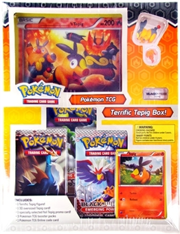 Pokemon Black & White Starter Figure Box - Terrific Tepig