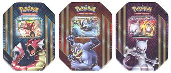 Pokemon Triple Power Tin (Set of 3) (Shiny Gyarados-EX, Mewtwo-EX & Machamp-EX)