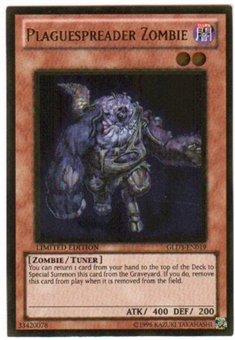 Yu-Gi-Oh Gold Series 3 Single Plaguespreader Zombie (GLD3-EN019)