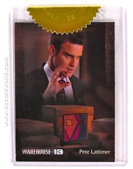 Warehouse 13 Season Four Premium Pack Eddie McClintock as Pete Lattimer Relic Card