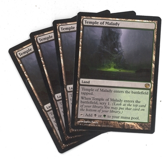 Magic the Gathering Journey into Nyx PLAYSET Temple of Malady X4 - NEAR MINT (NM)
