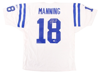 Peyton Manning Autographed Indianapolis Colts Authentic White Jersey (PSA)
