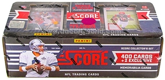 2011 Score Football Factory Set (Box) (2 Memorabilia Cards Per Set!)(Slightly Damaged)