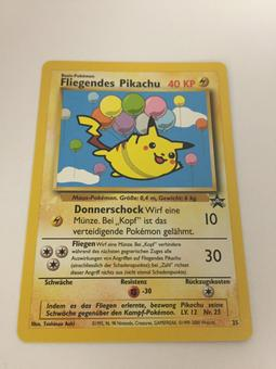 Pokemon Promo GERMAN Single Flying Pikachu 25 - NEAR MINT (NM)
