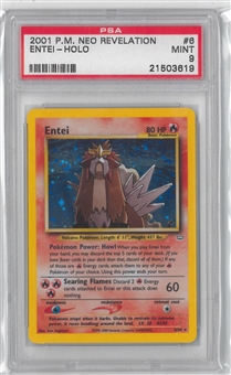 Pokemon Neo Revelation Single Entei 6/64 - PSA 9 *21503619*