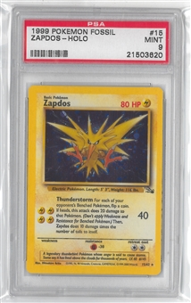 Pokemon Fossil Single Zapdos 15/62 - PSA 9 *21503620*