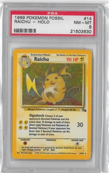 Pokemon Fossil Single Raichu 14/62 - PSA 8 *21503630*