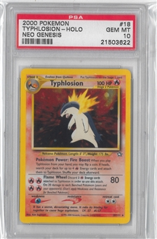 Pokemon Neo Genesis Single Typhlosion 18/111 - PSA 10 *21503622*