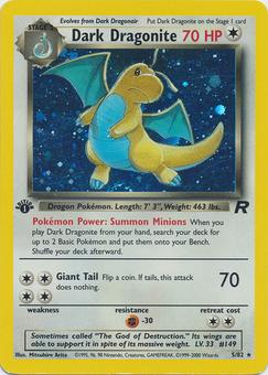Pokemon Team Rocket 1st Edition Single Dark Dragonite 5/82 - NEAR MINT (NM)