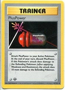 Pokemon Base Set 1st Ed. Single PlusPower 84 - SLIGHT PLAY (SP)