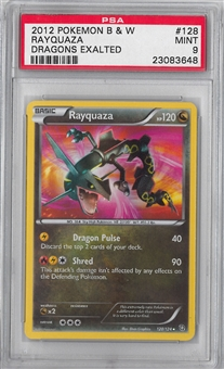 Pokemon Dragons Exalted Single Rayquaza 128/124 PSA 9 *23083648*
