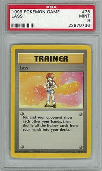 Pokemon Base Set PSA 9 Lass 75 - **23870736**