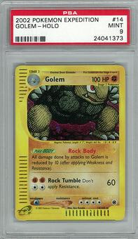 Pokemon Expedition PSA 9 Golem 14 - **24041373**