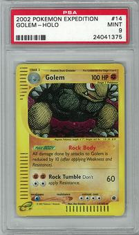 Pokemon Expedition PSA 9 Golem 14 - **24041375**