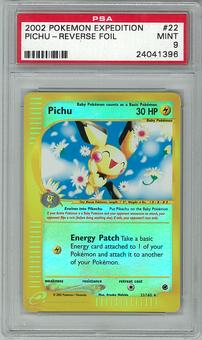 Pokemon Expedition PSA 9 Pichu 22 Reverse Foil - **24041396**