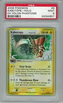 Pokemon EX Holon Phantoms Delta Species Kabutops 9/110 PSA 9
