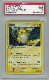 Pokemon EX Power Keeepers PSA 9 Raichu 12 - **24044966**