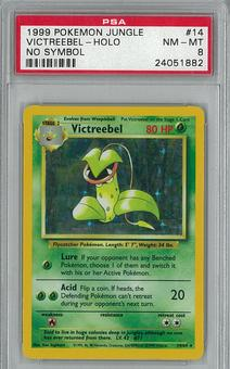 Pokemon Jungle NO SYMBOL Victreebel 14/64  PSA 8 - **24051882**