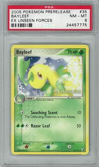 Pokemon EX Unseen Forces Prerelease Promo PSA 8 Bayleef 35 - **24457775**