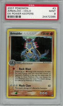 Pokemon EX Power Keepers PSA 9 Armaldo 3 - **24472385**