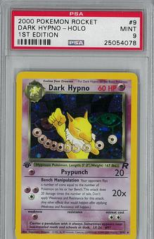 Pokemon Team Rocket 1st Edition Dark Hypno 9/82 PSA 9 - **25054078**