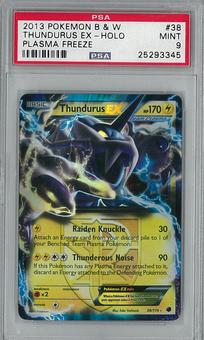 Pokemon B&W Plasma Freeze Single Thundurus EX 38/116 - PSA 9 - **25293345**