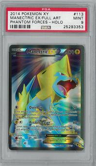 Pokemon XY Phantom Forces Single Manectric EX 113/119 - PSA 9 - **25293353**