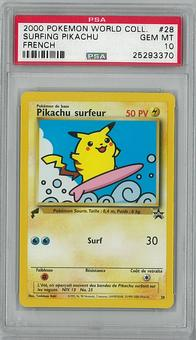 Pokemon FRENCH Promo Single Surfing Pikachu - PSA 10 - **25293370**