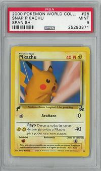 Pokemon SPANISH Promo Single Snap Pikachu - PSA 9 - **25293371**