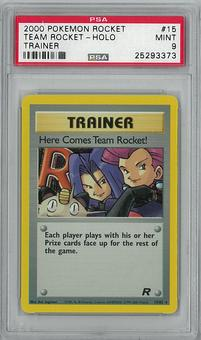 Pokemon Team Rocket Single Here Comes Team Rocket! - PSA 9 - **25293373**