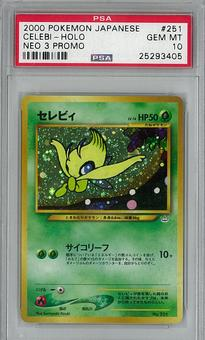 Pokemon JAPANESE Neo 3 Promo Single Celebi - PSA 10 - **25293405**