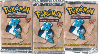 Pokemon Fossil Booster Pack X3 - Three Lapras Art Booster Packs