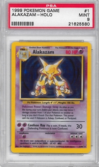 Pokemon Base Set 1 Single Alakazam 1/102 - PSA 9 - *21625580*