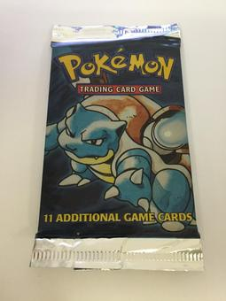 Pokemon Base Set 1 Sealed Booster Pack - Blastoise Art