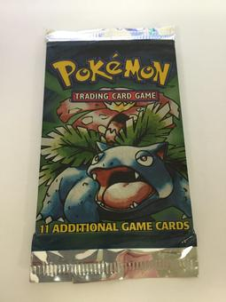 Pokemon Base Set 1 Sealed Booster Pack - Venusaur Art
