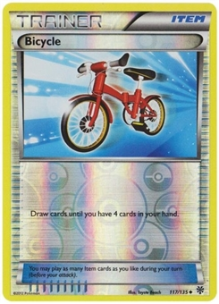 Pokemon BW Plasma Storm Single Bicycle 117 REVERSE FOIL - NEAR MINT (NM)