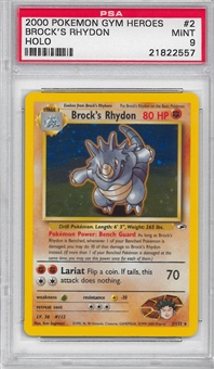 Pokemon Gym Heroes Single Brock's Rhydon 2/132 - PSA 9 - *21822557*