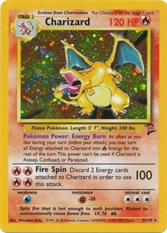 Pokemon Base Set 2 Single Charizard 4/130 - MODERATE PLAY (MP)